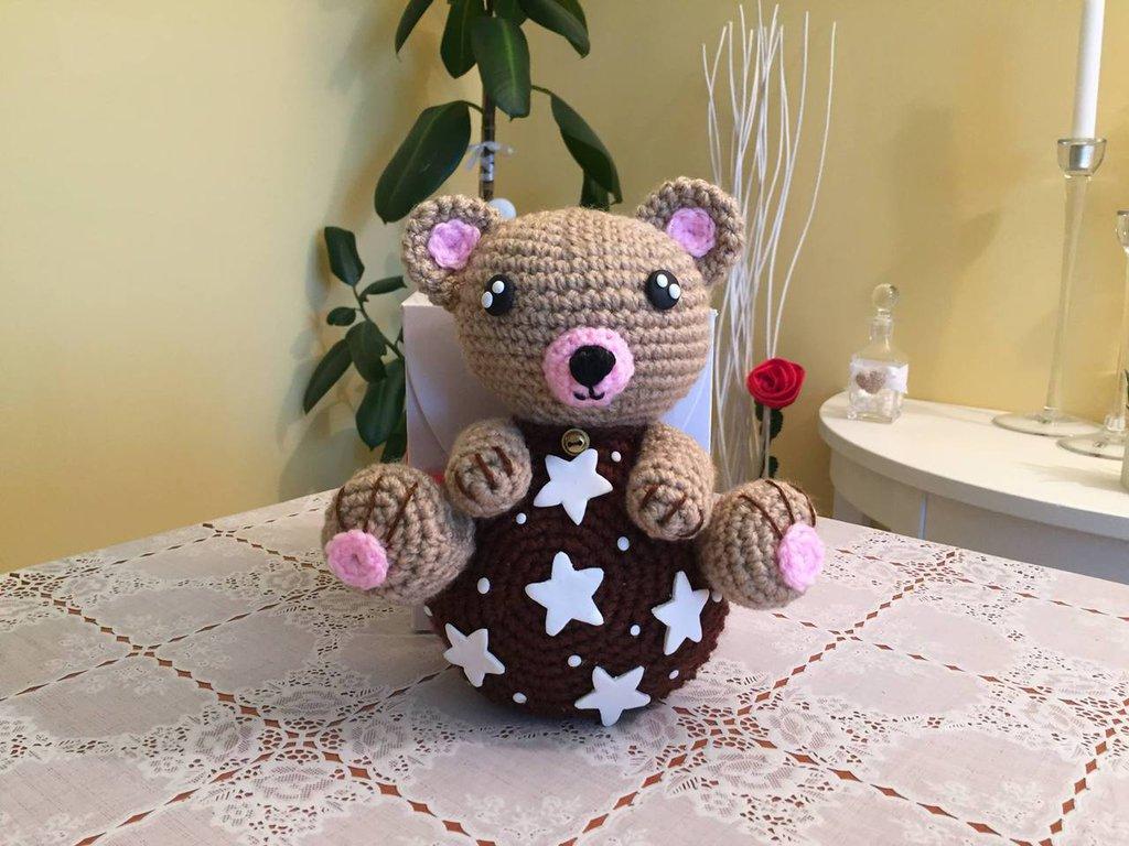 orso pan di Stelle Amigurumi