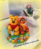 Topper cake Winnie the Pooh e Tigro  realizzati a mano