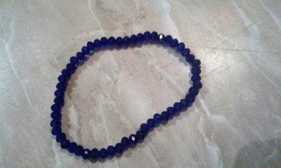 Bracciale elastico di mezzi cristalli blu
