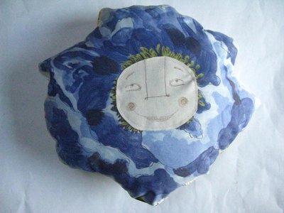 Cuscino fiore viola