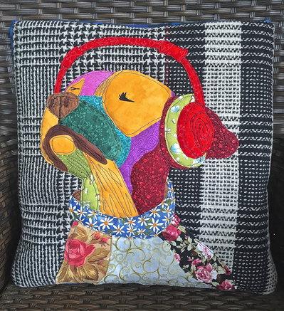 cuscino quillow cane che ascolta la musica - un cuscino con dentro un plaid