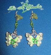 orecchini farfalle colorate