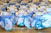 Vasetto bomboniera o segnaposto con gessetto profumato battesimo cresima comunione nascita
