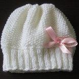 Cappellino neonato-fatto a mano-100% lana merino- regalo-nascita - Confezionato