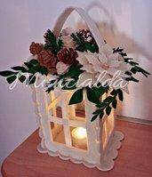 Lanterna decorativa a luce artificiale per Natale