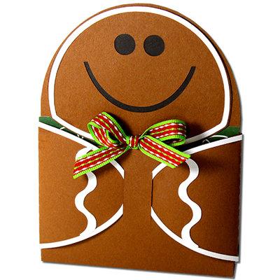 Card Holder in cartoncino Gingerbread