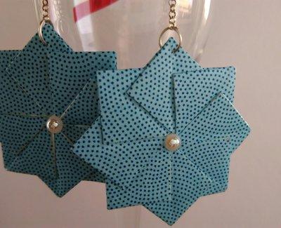 Orecchini pendenti origami