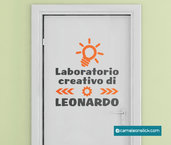 Nome cameretta bambino laboratorio creativo - adesivo murale per bambini - sticker cameretta decorazione