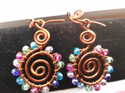 orecchini  aspiral color