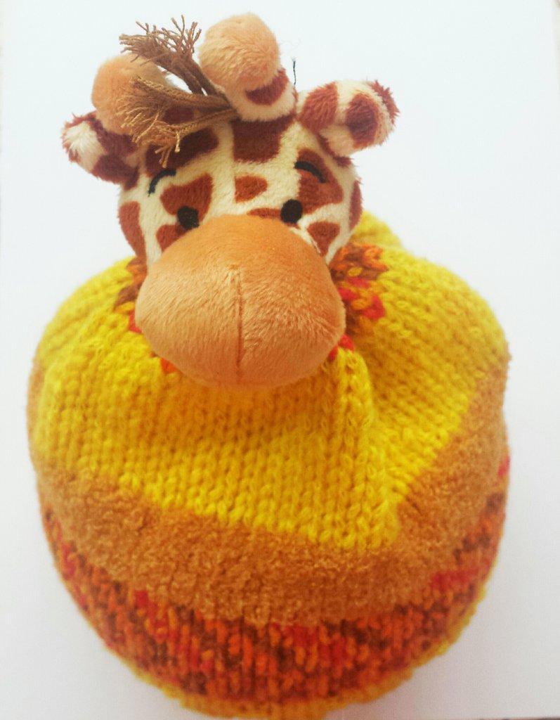 Cappellino con giraffa