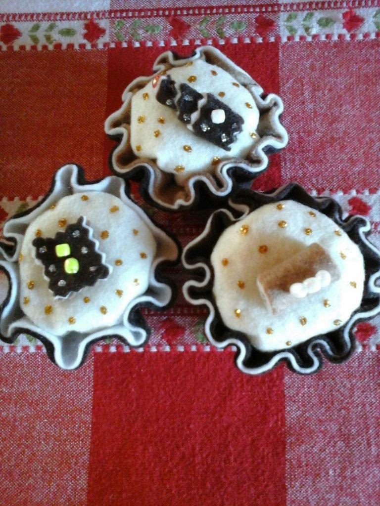 cupcake in feltro