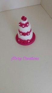 Mini cake design, fimo, bomboniera, segnaposto