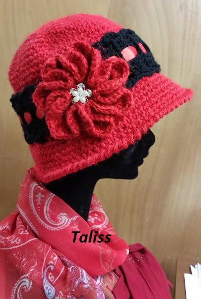 cappello clochè 20s di lana