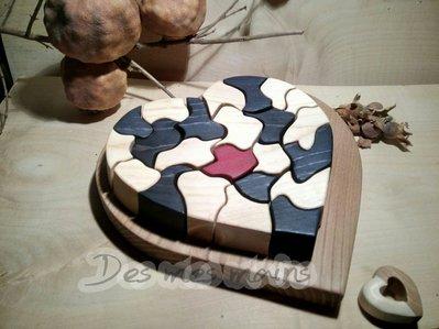 Soprammobile Puzzle_Cuore chimera blu