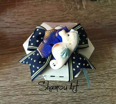 Bomboniere lanterna faro tema mare con bigliettino confetti e cavalluccio marino fatto a mano in fimo battesimo matrimonio