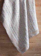 Soffice coperta in cotone fatta a mano a maglia