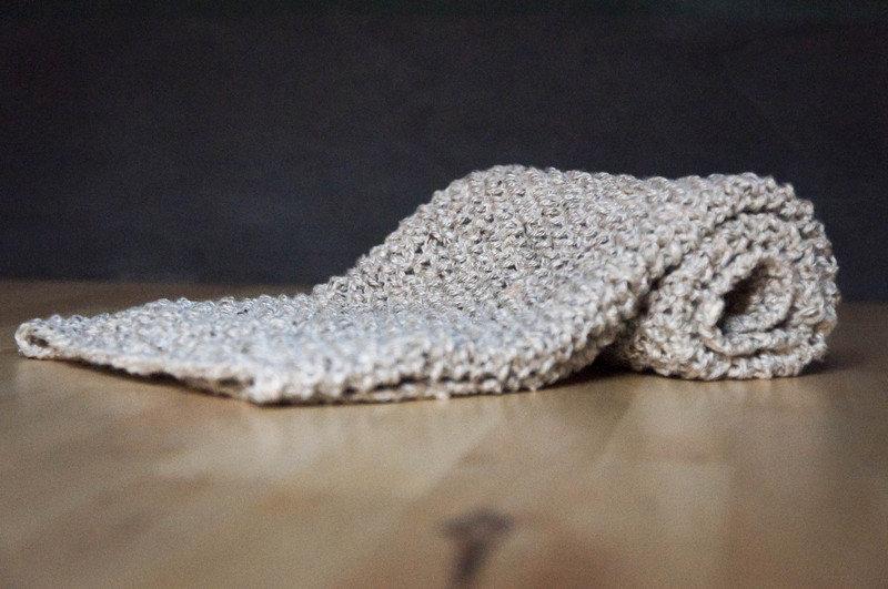 Soffice coperta in cashmere fatta a mano a maglia