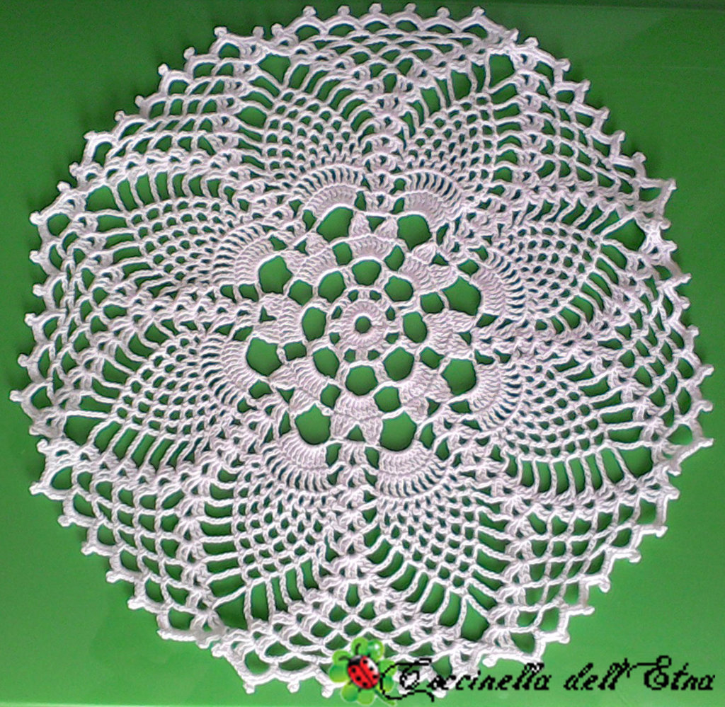 Centro Fiore Bianco A Uncinetto Idee Regalo Di Natale Per La Casa