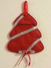 Fuori porta natalizio da appendere in panno lenci