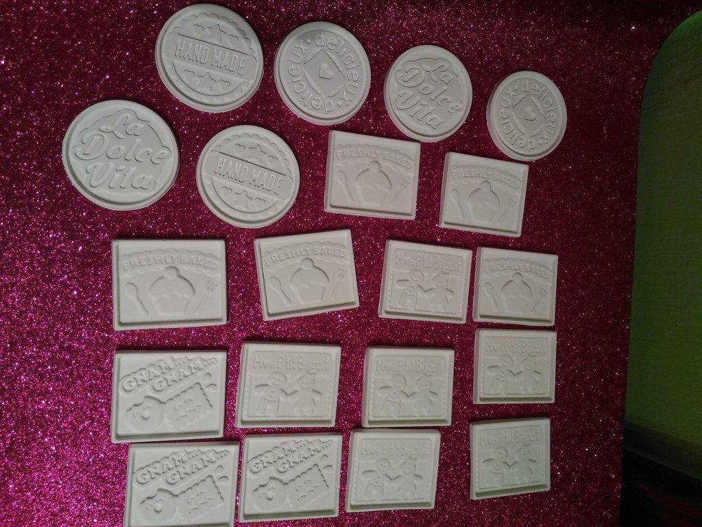 Set gessetti in polvere di ceramica bianchi