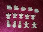 Set  gessetti in polvere di ceramica  motivi natalizi bianchi