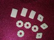 Set biscotti in polvere di ceramica bianchi