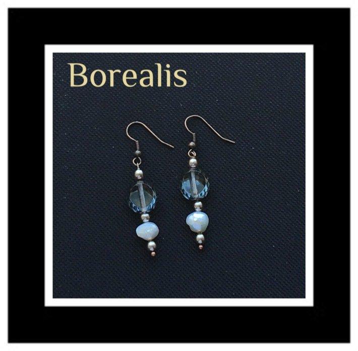 Orecchini in perle d'acqua e cristalli