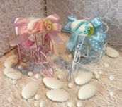 Confezione confetti decorati in cestino bici