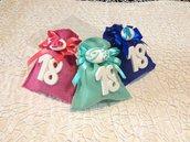 Confezione confetti decorati in sacchetto