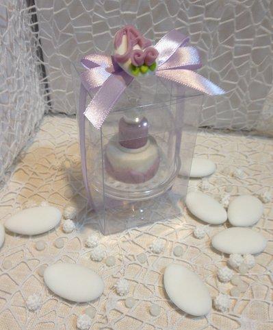 Confezione confetto decorato + alzatina e minicake