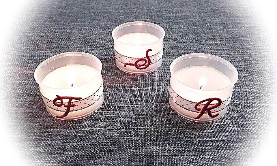 3 candele personalizzate