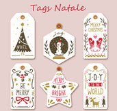Tags per Natale in cartoncino