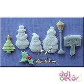 Alphabet Moulds - Stampo in Silicone - Let it snow