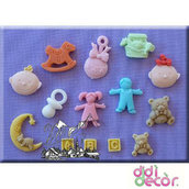 Alphabet Moulds - Stampo in Silicone - Nursery