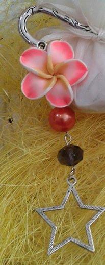 segnalibro da donna o bambina metallo con fiore
