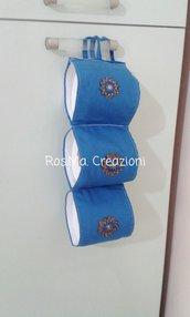 Porta Rotoli di Carta Igienica per il Bagno in Stoffa Fatto A Mano