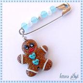 """""""Gingerbread: l'Omino di Marzapane"""" - accessorio spilla"""