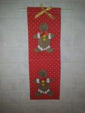 idee regalo natale : pannello in cotone rosso .