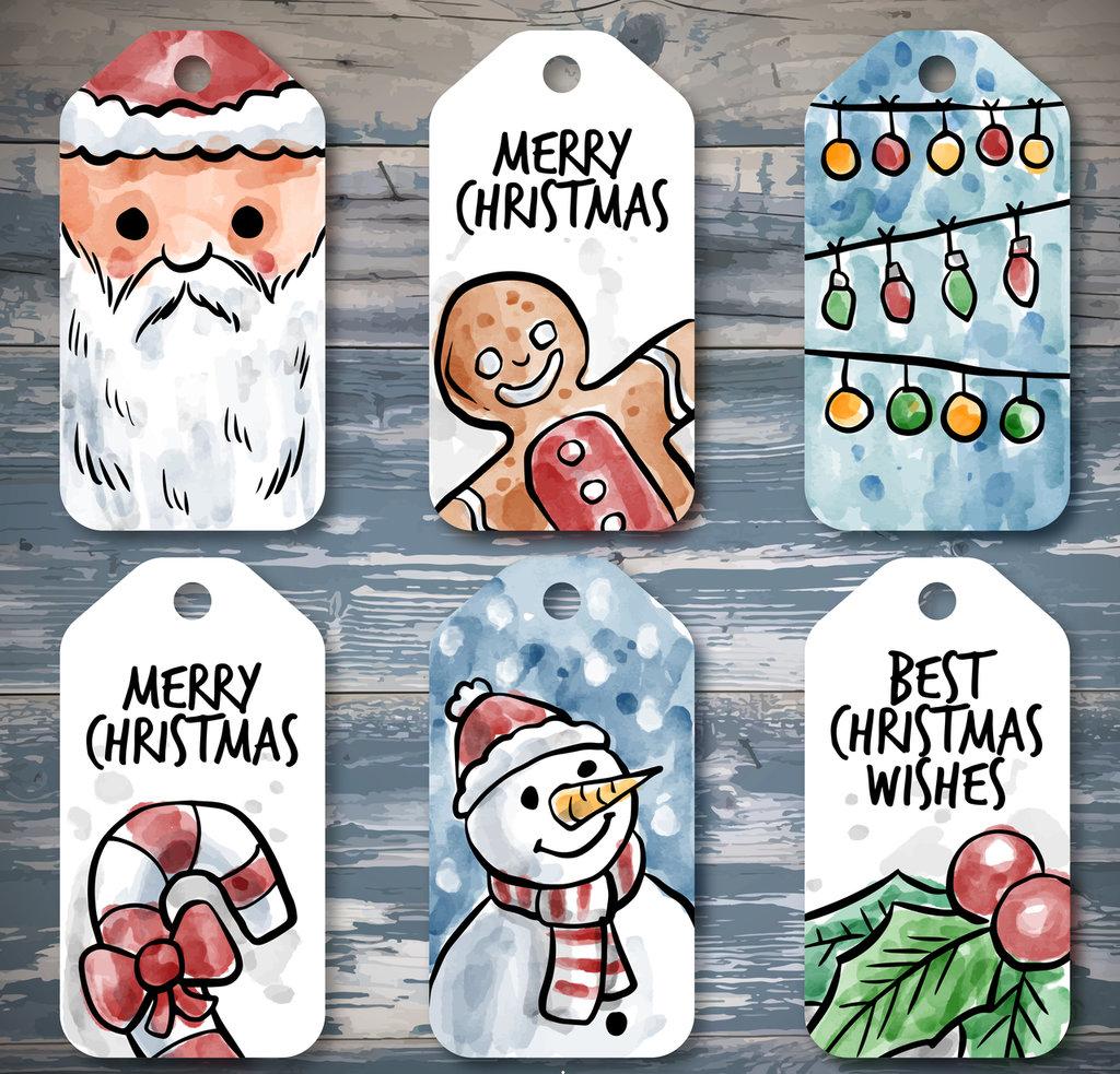 Tags per Natale in cartoncino