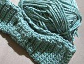 Fascia paraorecchi in lana HANDMADE color carta da zucchero scuro