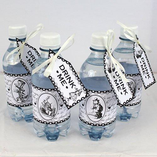 Set di Tags e Rotuli per Bottiglia Alice nel Paese delle Meraviglie