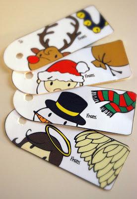 Set di Tags di Natale in cartoncino