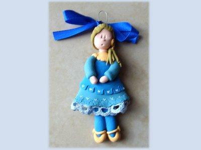 Bambolina da appendere blue