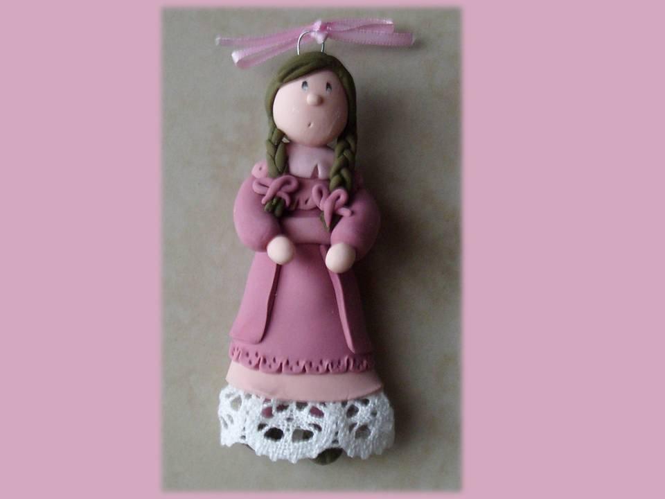 Bambolina da appendere pink