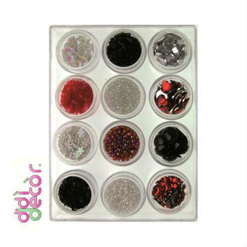 Box decorazioni assortite - Rosso/Bianco/Nero