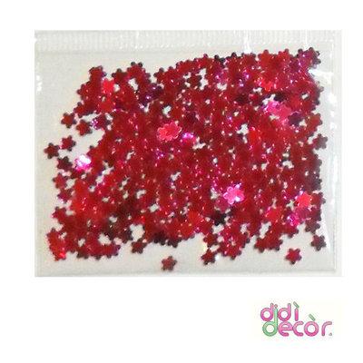 Paillettes metallizzate fucsia - fiorellini