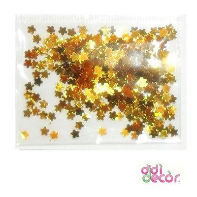 Paillettes metallizzate oro- fiorellini