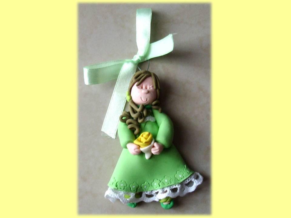Bambolina da appendere green