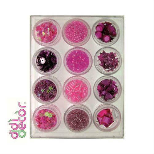 Box decorazioni assortite - Rosa/Lilla