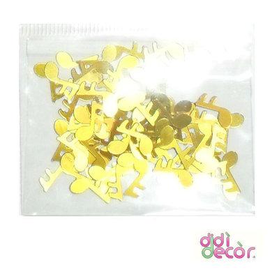 Paillettes metallizzate oro - note musicali